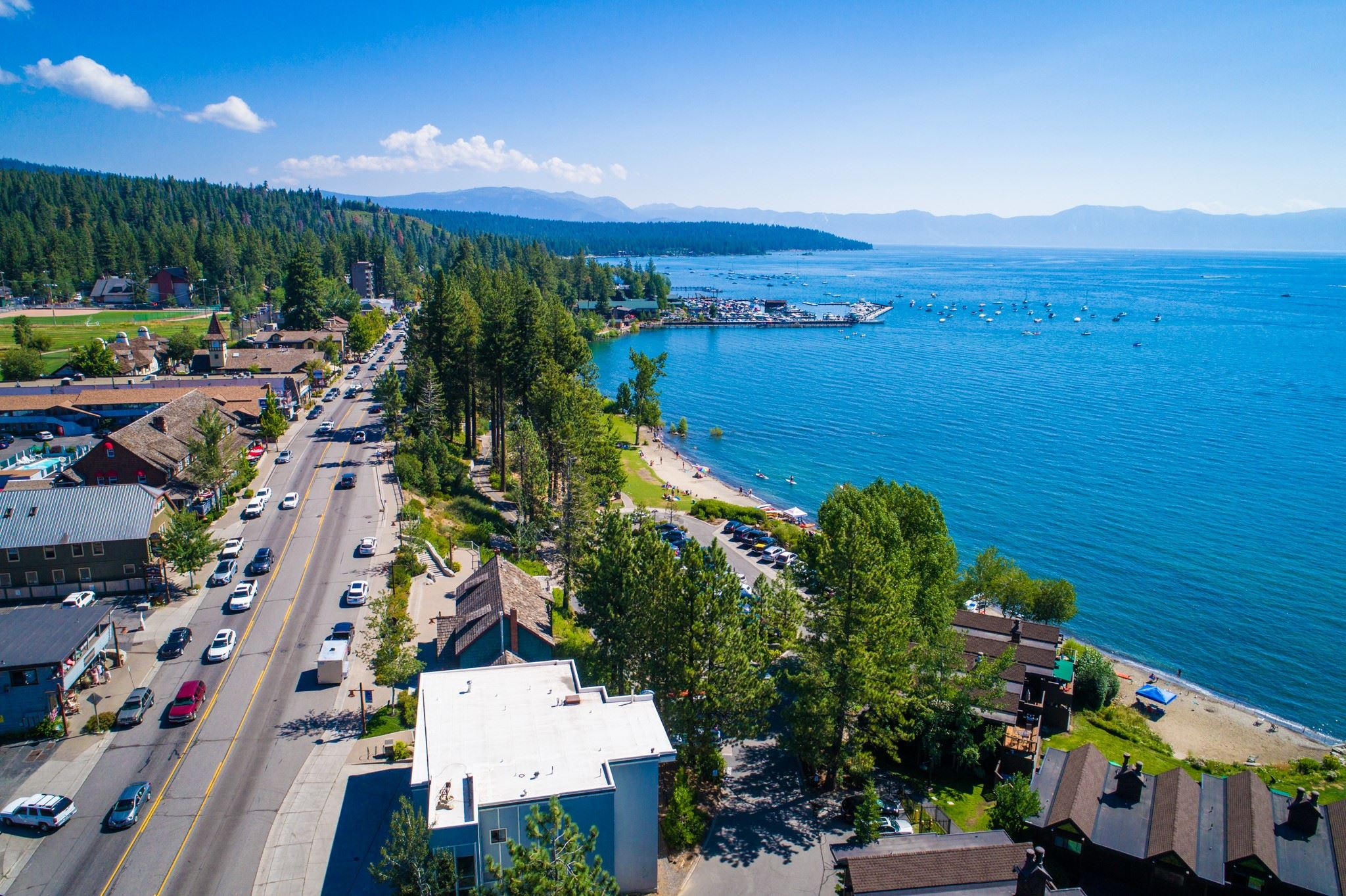Tahoe City firehouse properties-aerial