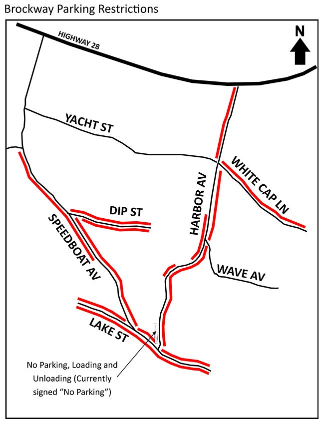 Brockway Parking restrictions map