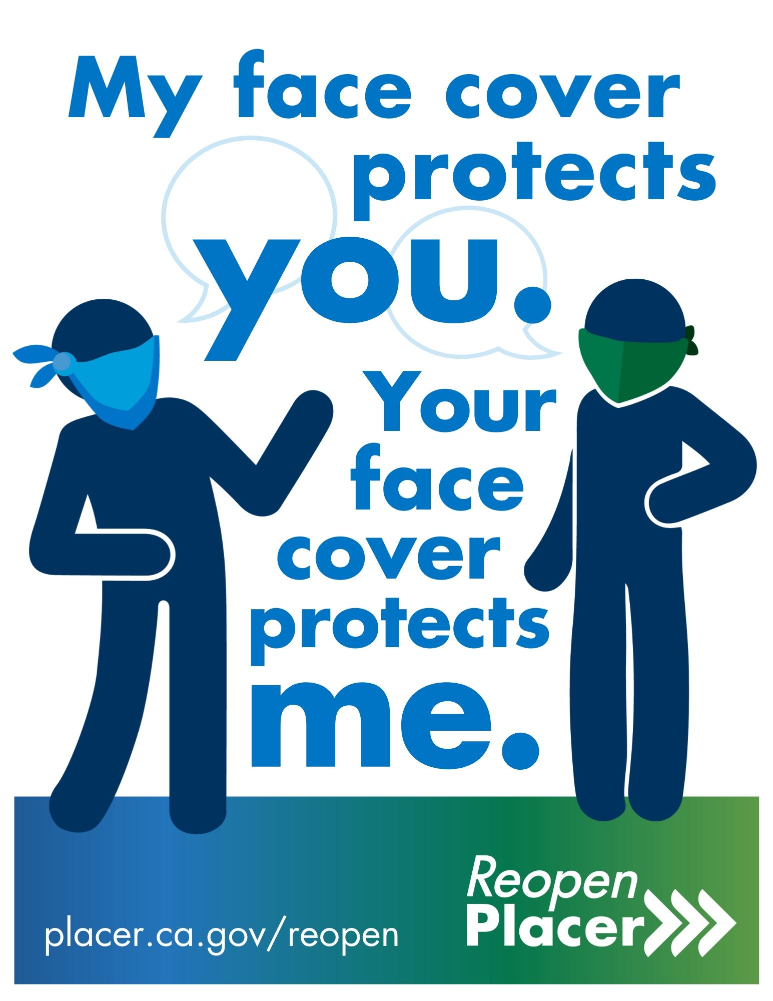 Your face cover protects me poster Opens in new window