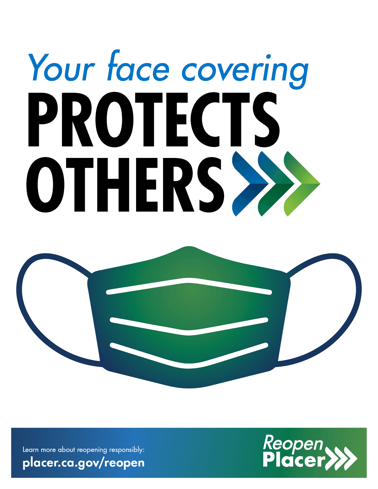 RP Poster Face Mask Protects Others Opens in new window