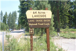 64 Acres Lakeside - Lake Tahoe Basin National Forest Lands Street Sign